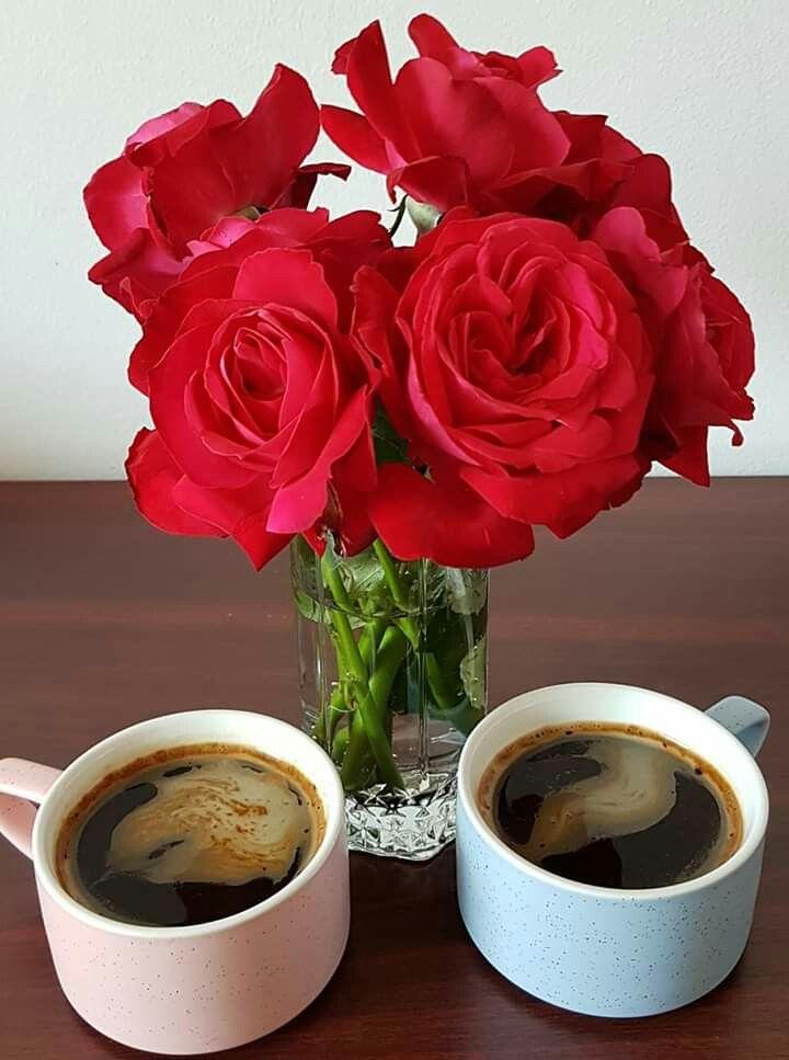 Картинки с добрым утром цветы кофе