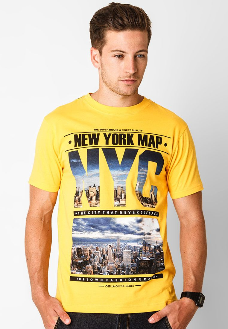 T-shirt NYC New York Map in yellow. Designed by Osella. http://zocko.it/LD3db