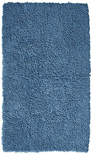 Pinzon Luxury Loop Cotton Bath Mat 21 X 34 Inch Marine Bath