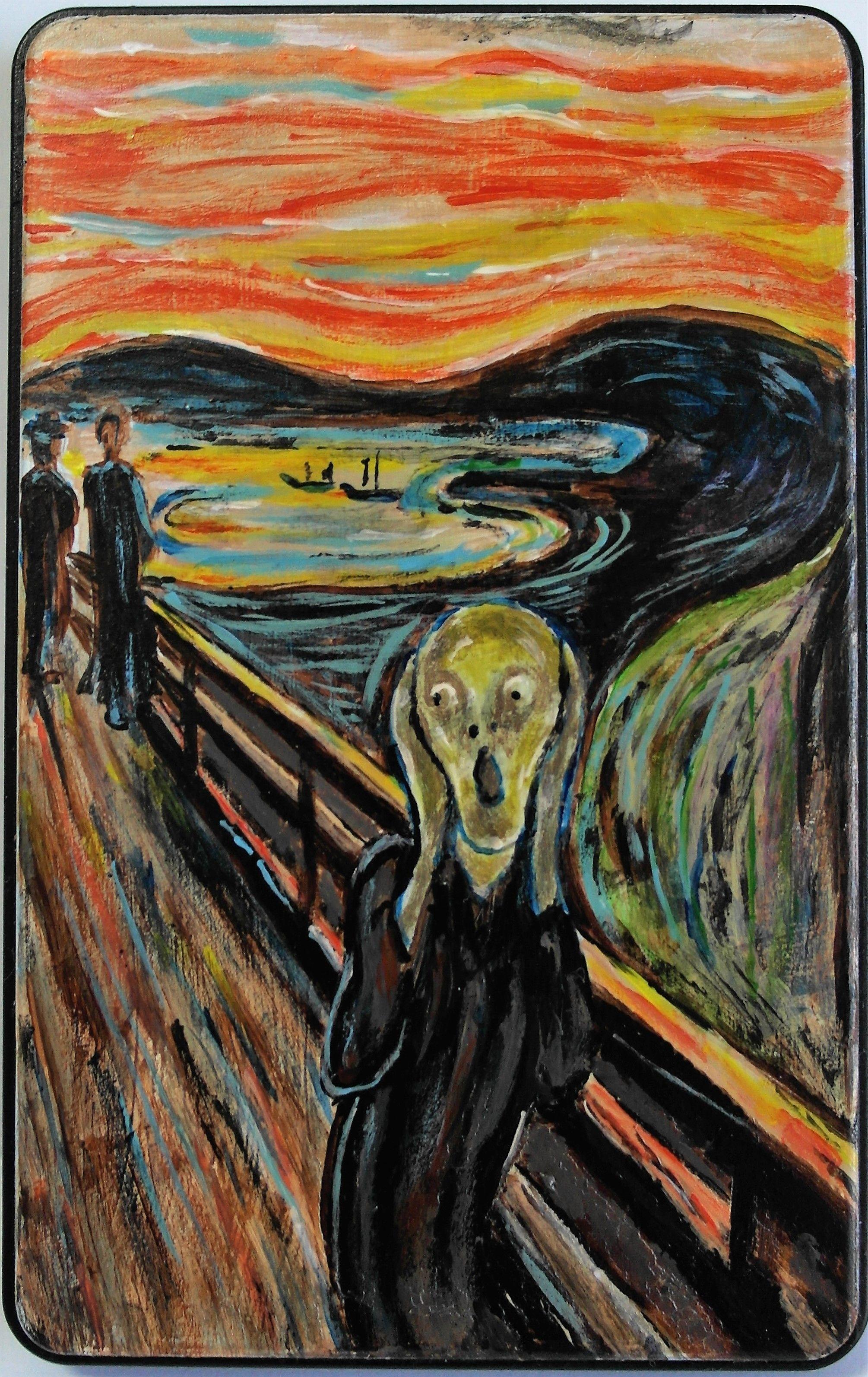 """El grito de Munch sobre carcasa hd de 2.5""""   Ilustraciones, El ..."""