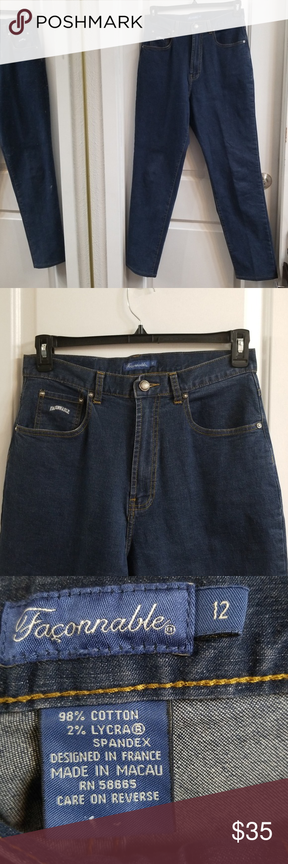 aa4567203f2 Ladies size 12 Faconnable jeans Ladies size 12 vintage high waist  Faconnable jeans Waist is 15 inches laying flat 30 inch inseam Great  condition Faconnable ...