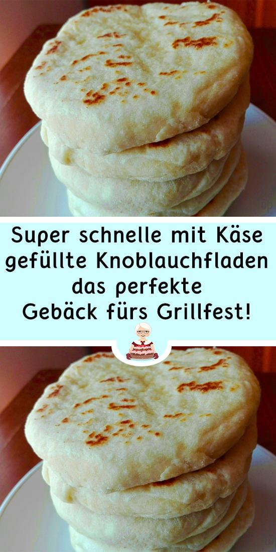 Photo of Super schnelle mit Käse gefüllte Knoblauchfladen – das perfekte Gebäck für…