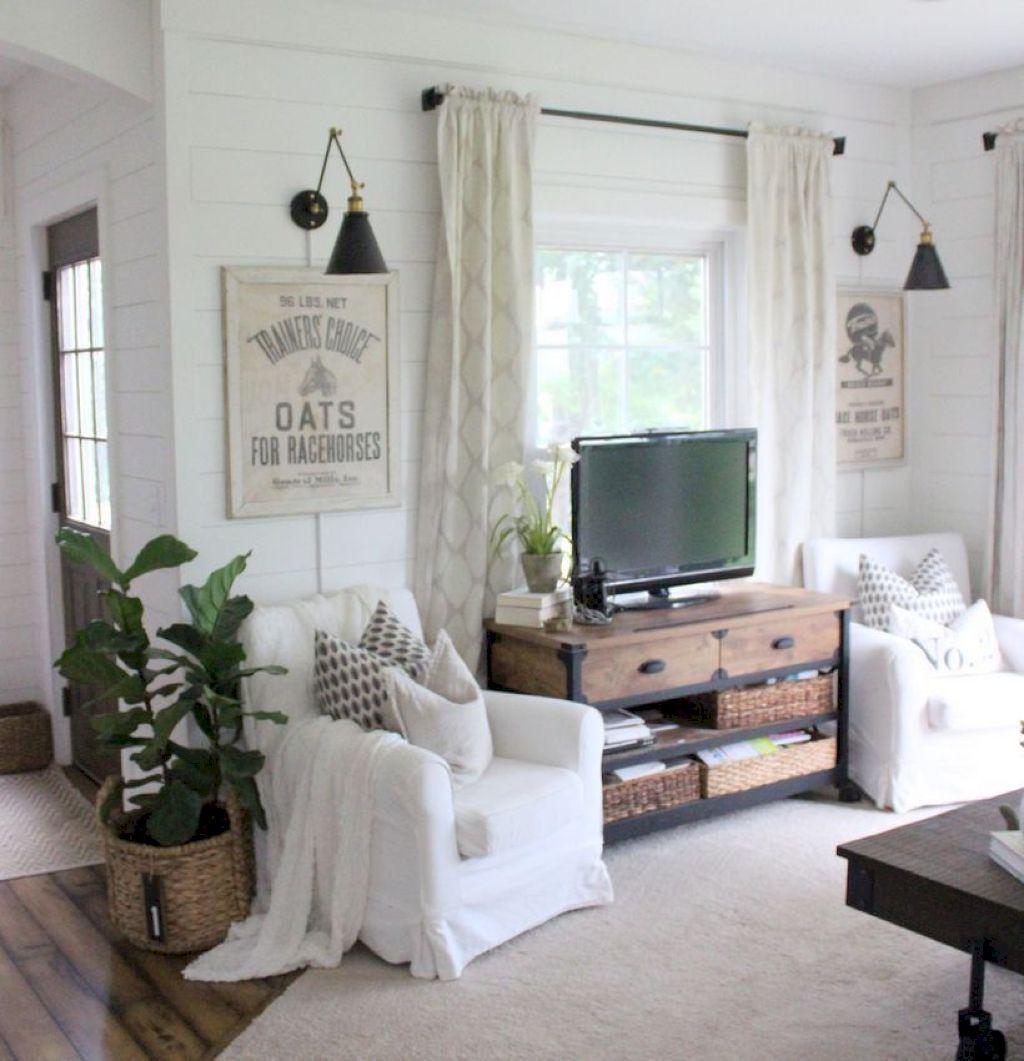 62 Rustic Farmhouse Living Room Decor Ideas | Pinterest ...