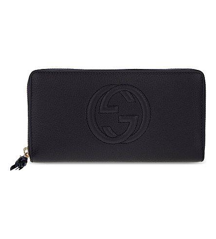 GUCCI Soho Grained Leather Long Wallet. #gucci #bags #leather #wallet #accessories #