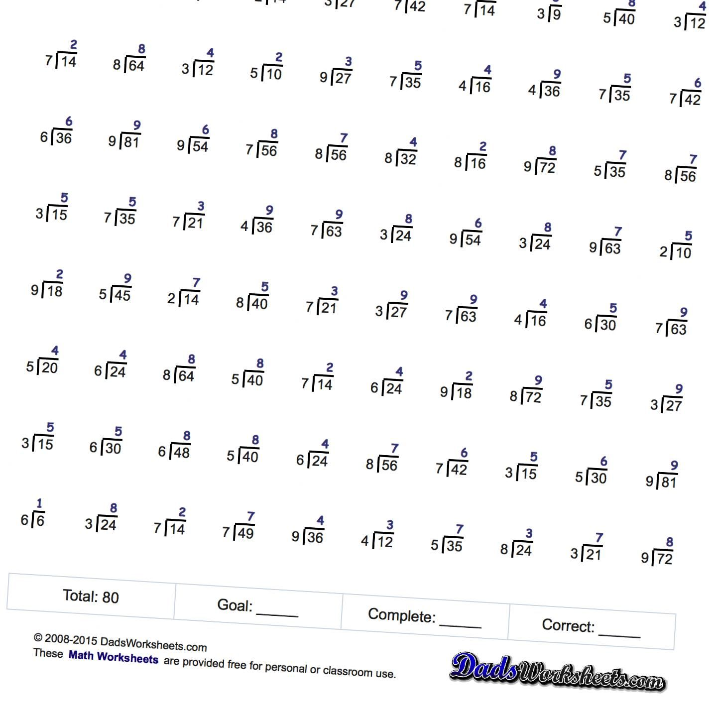 Worksheets Mad Minute Math Worksheets division worksheets just whole facts two minute tests education printable maths worksheetsmath