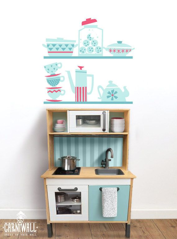 A Decal That Ll Help Expand A Play Kitchen Kids Wall Decals Kids Room Murals Kids Room Wall