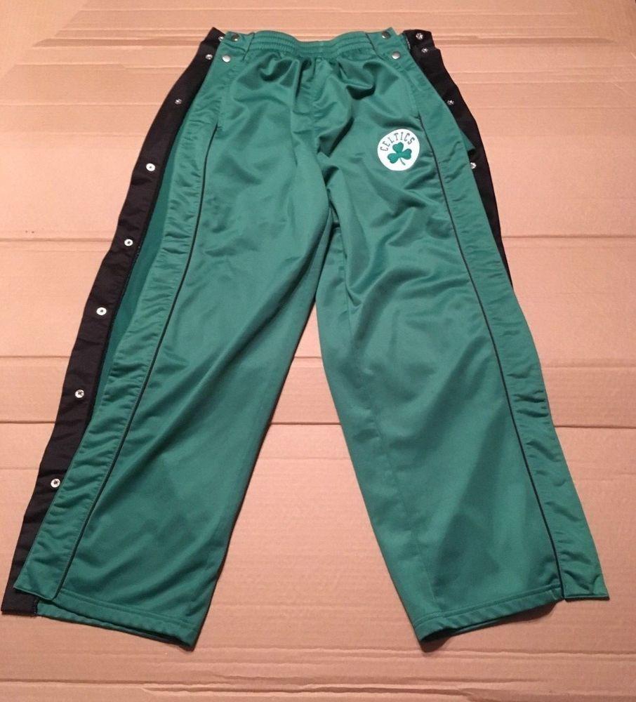 fb025a09b9dc NBA Boston Celtics Green Warm Up Sweat Pants Button up Kids Size Large  14 16  NBA  BostonCeltics