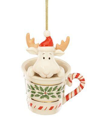 Lenox Christmas Ornament Holiday Peek A Moose Lenox Christmas Ornaments Lenox Christmas Christmas Ornaments