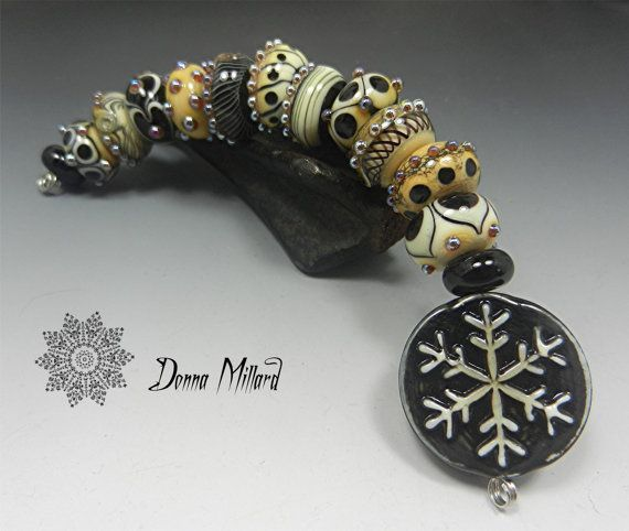 sra handmade lampwork glass bead set donna millard by