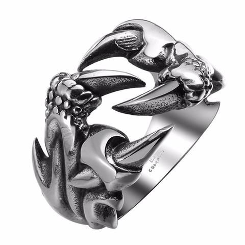 Solid 925 Sterling Silver Men Ring,Dragon Claw,Dragon Paw Ring,Evil Paw Ring,Dragon Ring,Evil Claw Ring,Silver Dragon Ring,Mens Dragon Ring