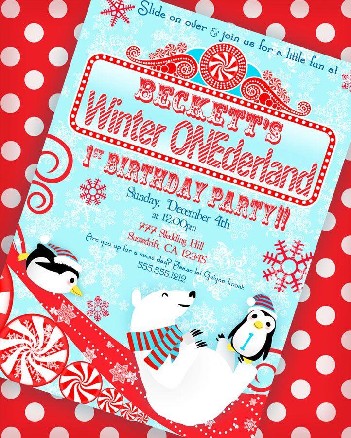 Winter ONEderland Birthday Party Winter onederland Birthdays and