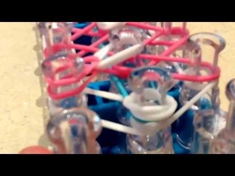 Rainbow loom Cotton Candy Flower Bracelet! For intermediate difficulty! - YouTube