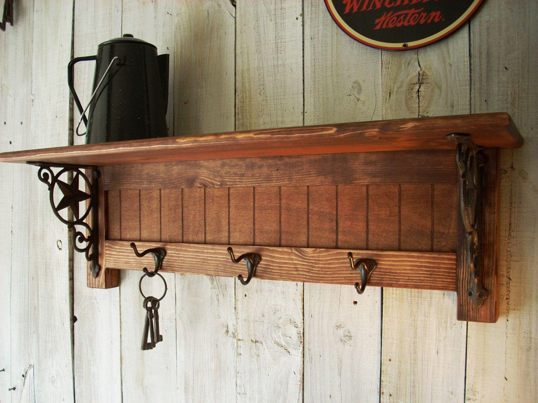 Western Furniture Wall Mounted Coat Rack Shelf 96 00 Via