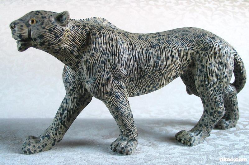 Dalmatine Dalmatian Leopard Carved Gemstone Stone