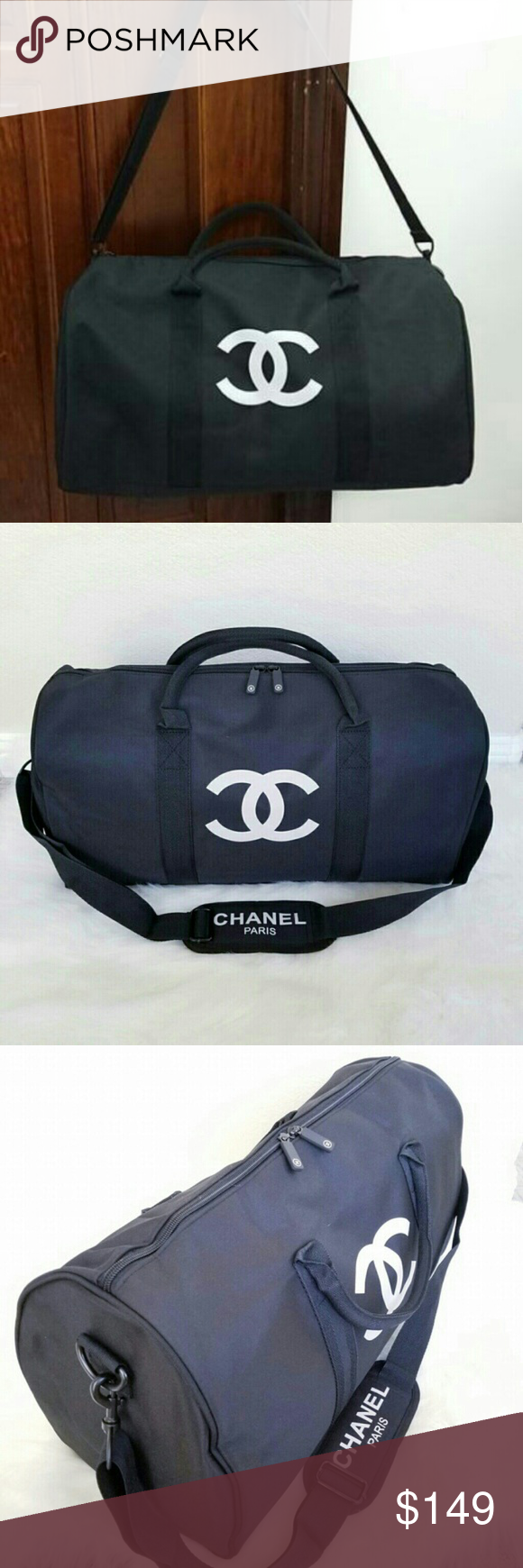 aa4240e93e7c Chanel travel bag gym bag vip gift bag Authentic Chanel vip gift bag travel bag  gym bag duffle bag. new with original packaging bag. Measure L 48cm x.
