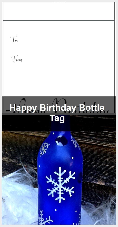 Happy Birthday Bottle Tag,  #birthday #Bottle #happy #Tag