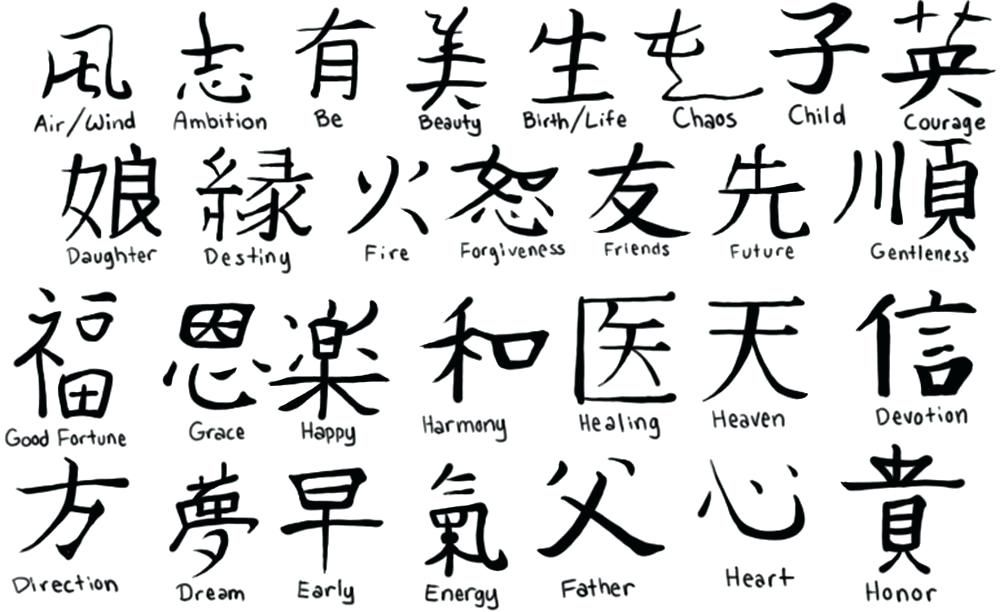 japanese letters 4 letter words words and kanji designs photo 3