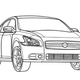 nissan altima hybrid coloring page free printable coloring