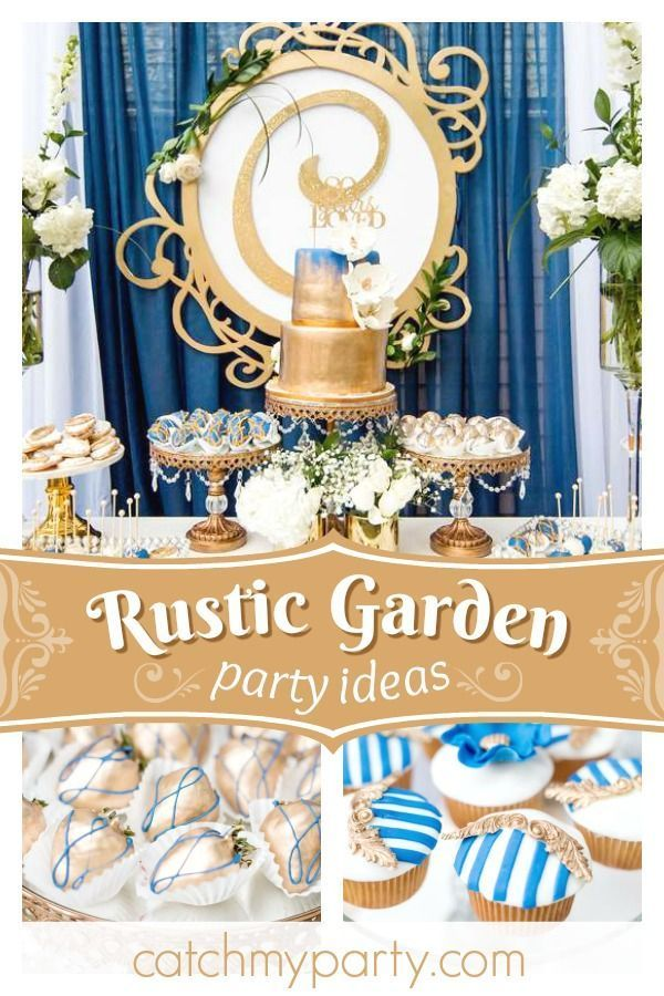 Take A Peek At This Amazing Rustic Garden 80th Birthday Party The Dessert Table Is Stunning See More Ideas And Share Yours CatchMyParty