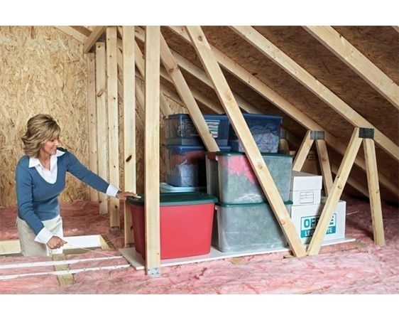 Utilize wasted attic space for storage easily store and for Utilizing attic space