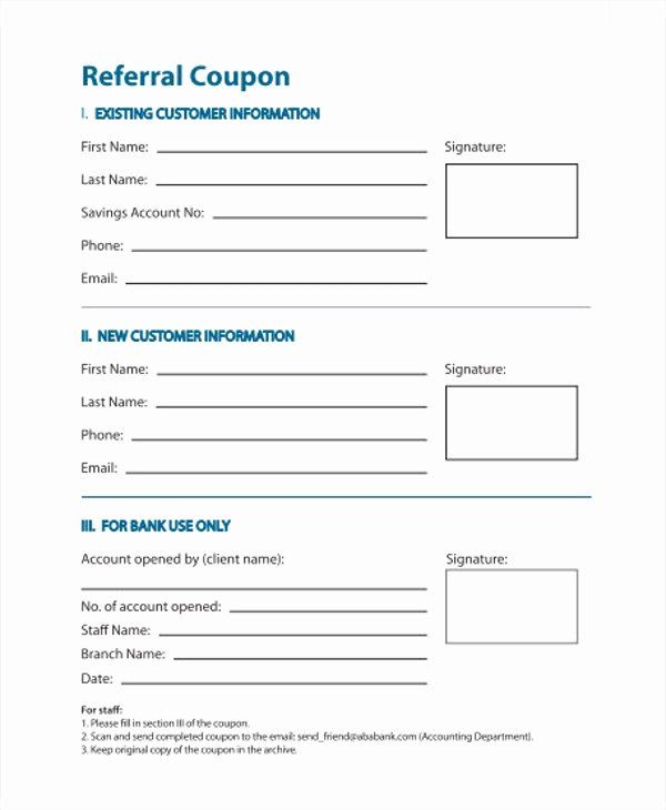 Customer Referral form Inspirational 11 Referral Coupon ...