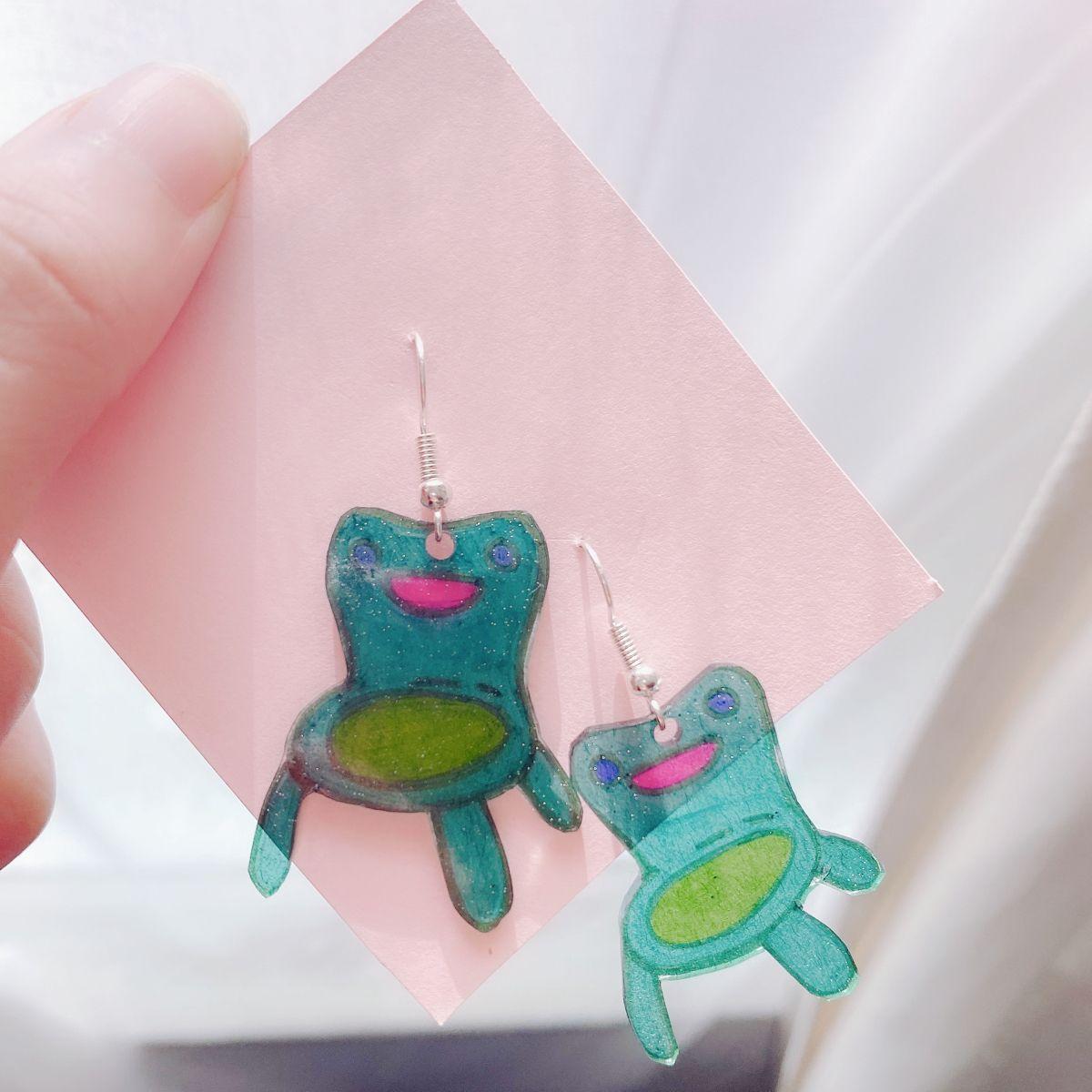 Froggy chair animal crossing inspired earrings in 2020