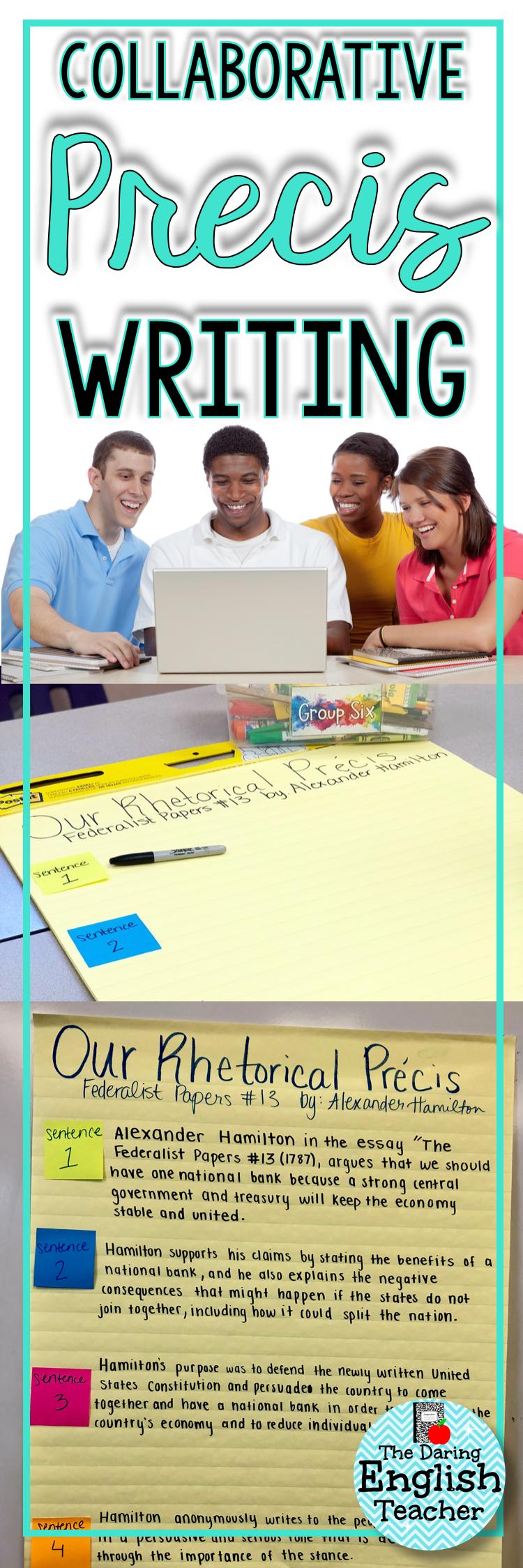 Writing A Class Collaborative Precis Rhetorical Analysis Teaching Writing Rhetoric [ 2249 x 750 Pixel ]