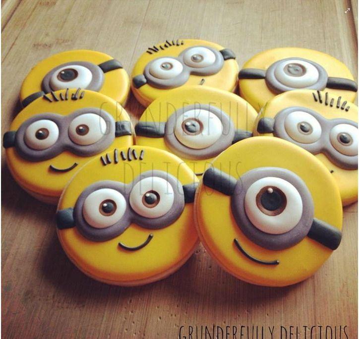 Minion Cookies Galletitas De Minions Galletas Decoradas