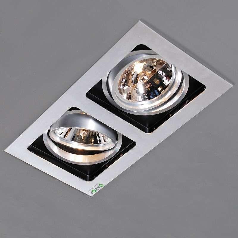 luxe aluminium design inbouwspot met high tech uitstraling, Badezimmer