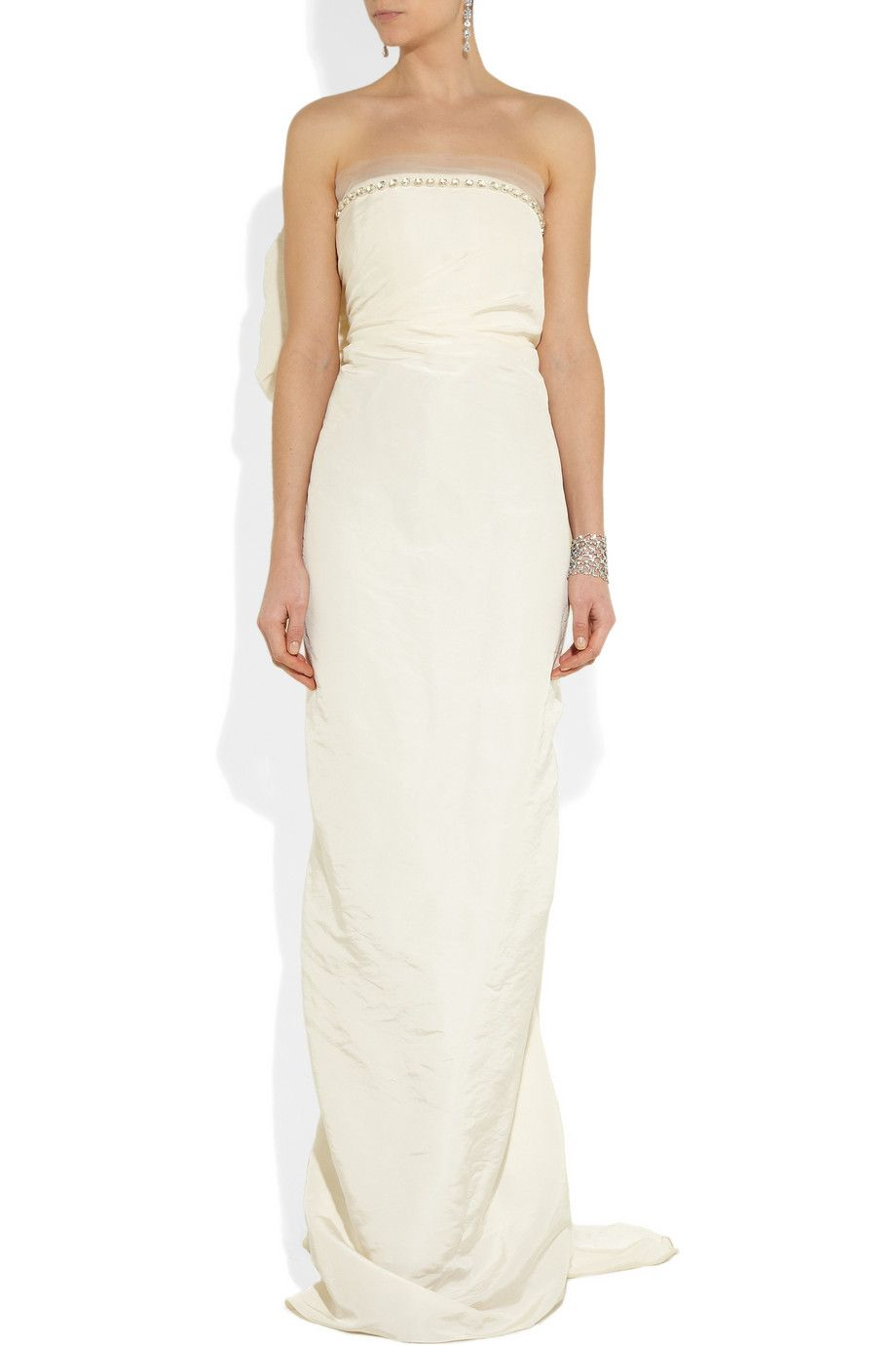 Lanvin | Crystal-embellished silk-faille gown | NET-A-PORTER.COM ...