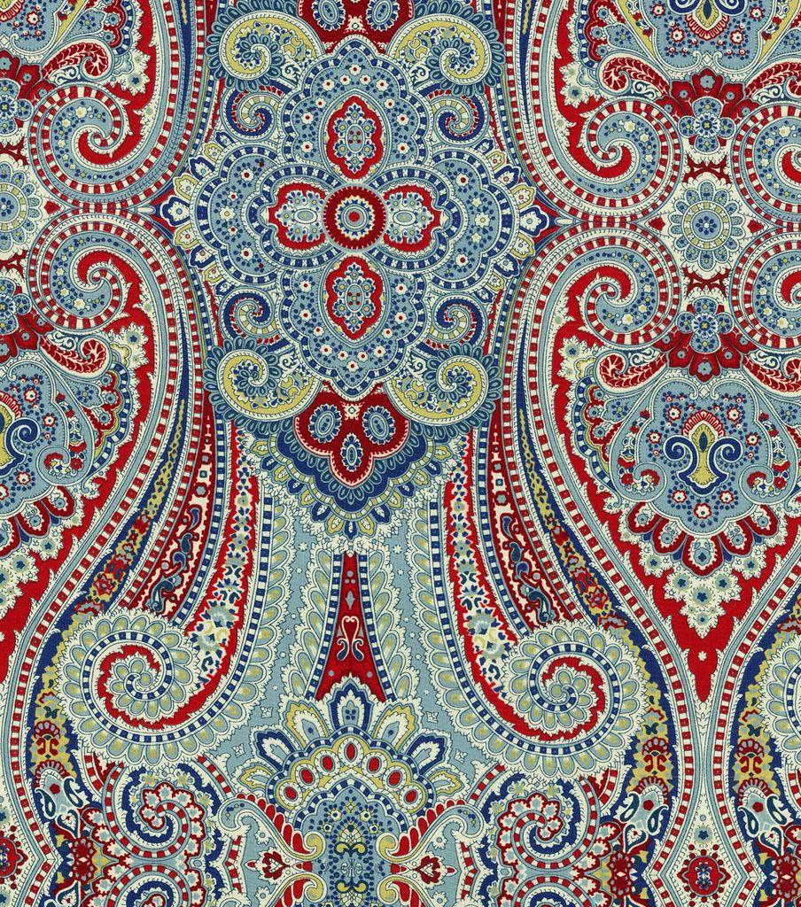 Waverly Home Decor Print Fabric Paisley Pizzazz Herita Hi Res