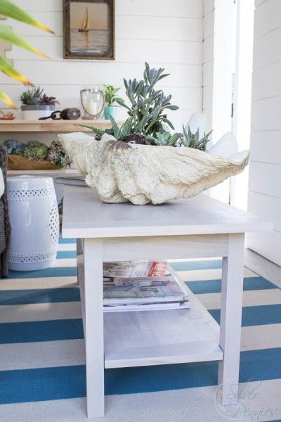She Shed Diy Coastal Coffee Table Decor Diy Room Decor Coffee