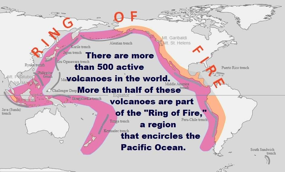 Ring Of Fire Volcanoes   Geography Teaching   Pinterest   Geography