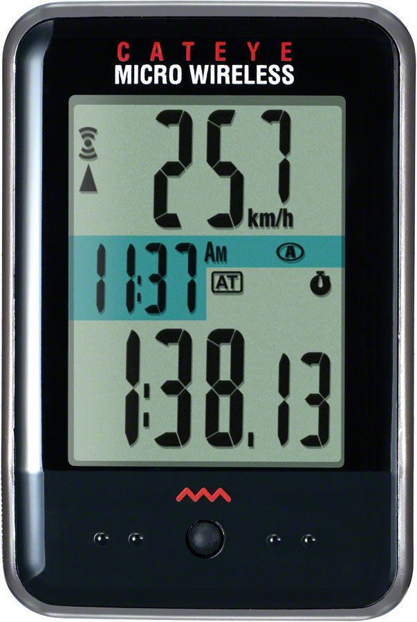 Cateye Wireless Cycling Computer Micro Wireless Cc Mc200w Black