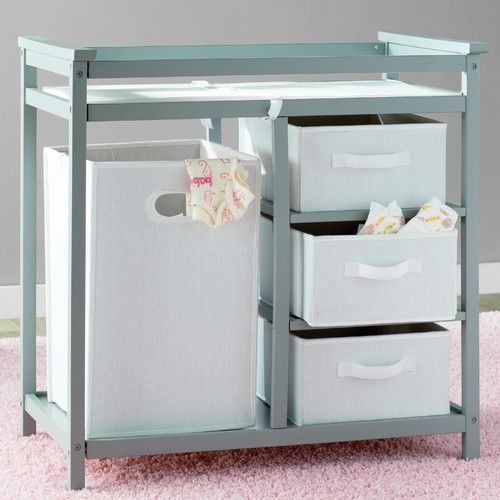 Sawyer Avery Changing Table with 3 Baskets and Hamper | Cambiador de ...
