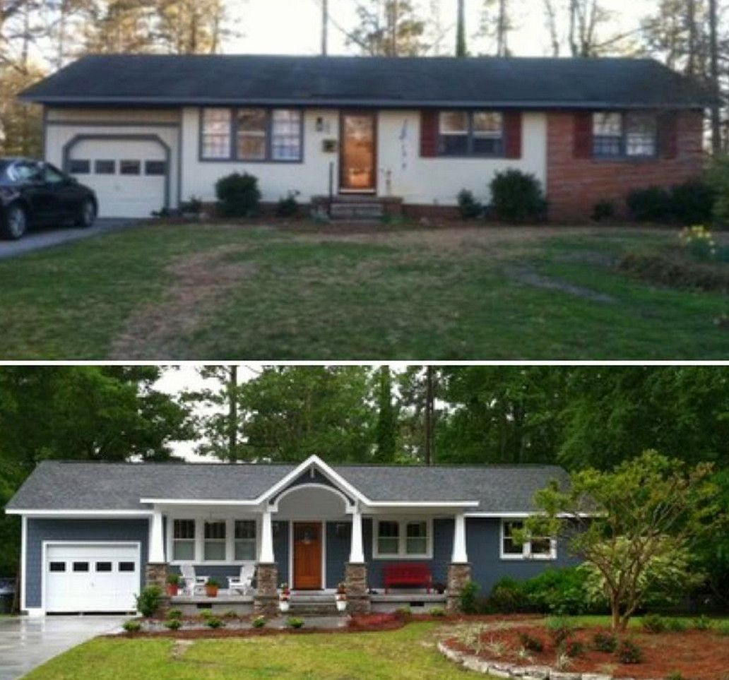 ranch style house remodel before and after home redesign 1950 ranch house remodel - Ranch House Remodel and the Options You Have to  Do It u2013 Beautiful house design ideas. Before After ...
