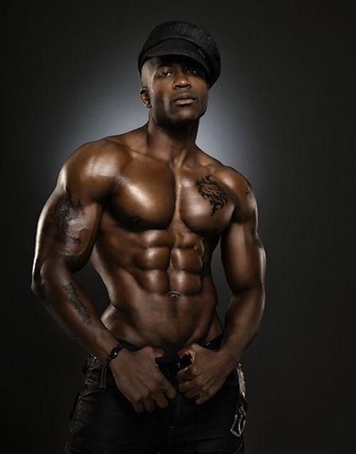 Sexy dark black men