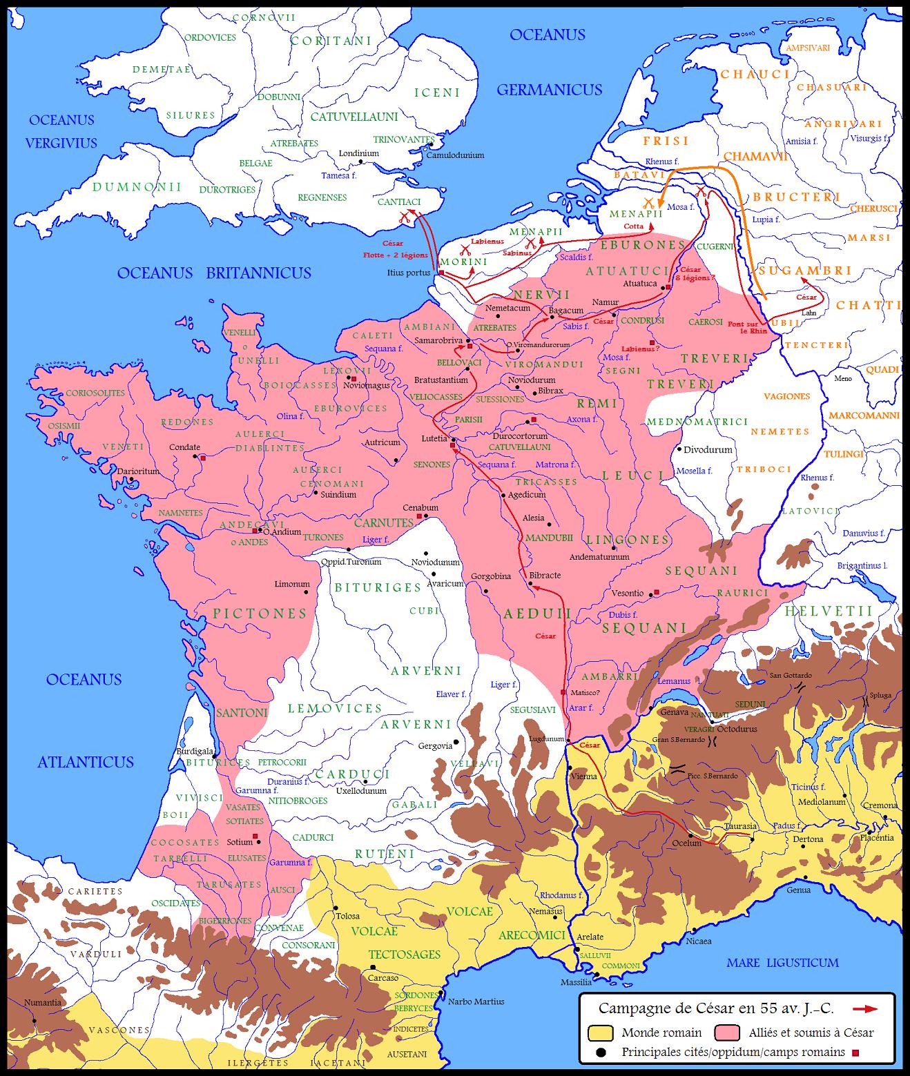Guerre Des Gaules La Guerre Des Gaules Protohistoire Peuple Gaulois