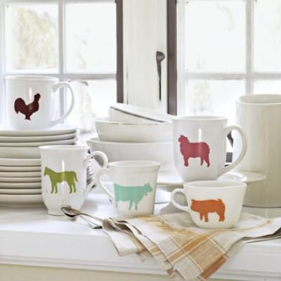 DIY Farm Animal Mugs