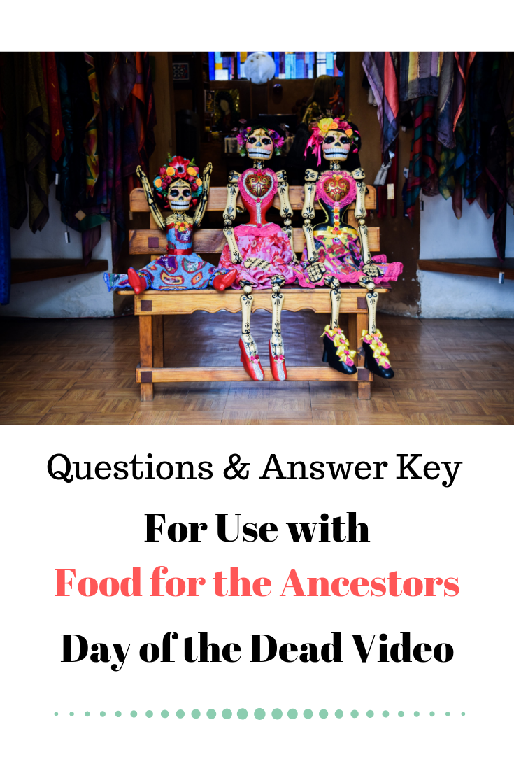 Video Worksheet And Answer Key For Food For The Ancestors Day Of The Dead Video Senora Epp Dia De Los Muert Teach Me Spanish Spanish Students Spanish Teacher [ 1102 x 735 Pixel ]