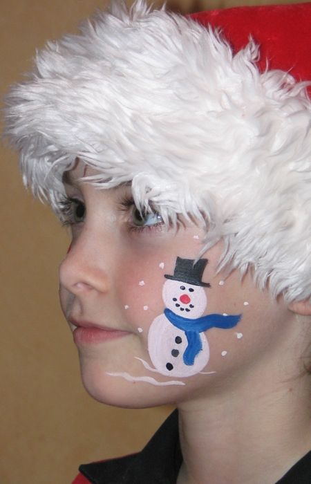 Christmas Facepainting For Kids Christmas Face Painting Face Painting For Boys Face Painting