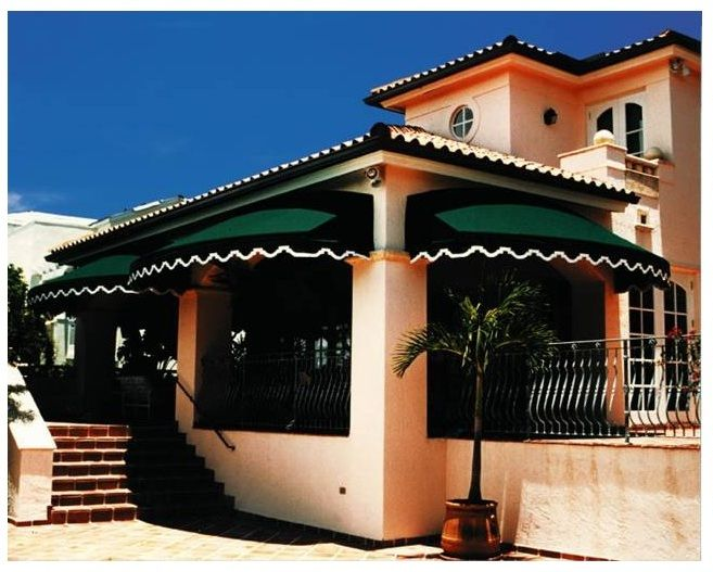 Mediterranean Style Awnings This Awnings Also Enhance The Value And Appearance Of The Home While Providing S House Awnings Residential Awnings Pergola Canopy