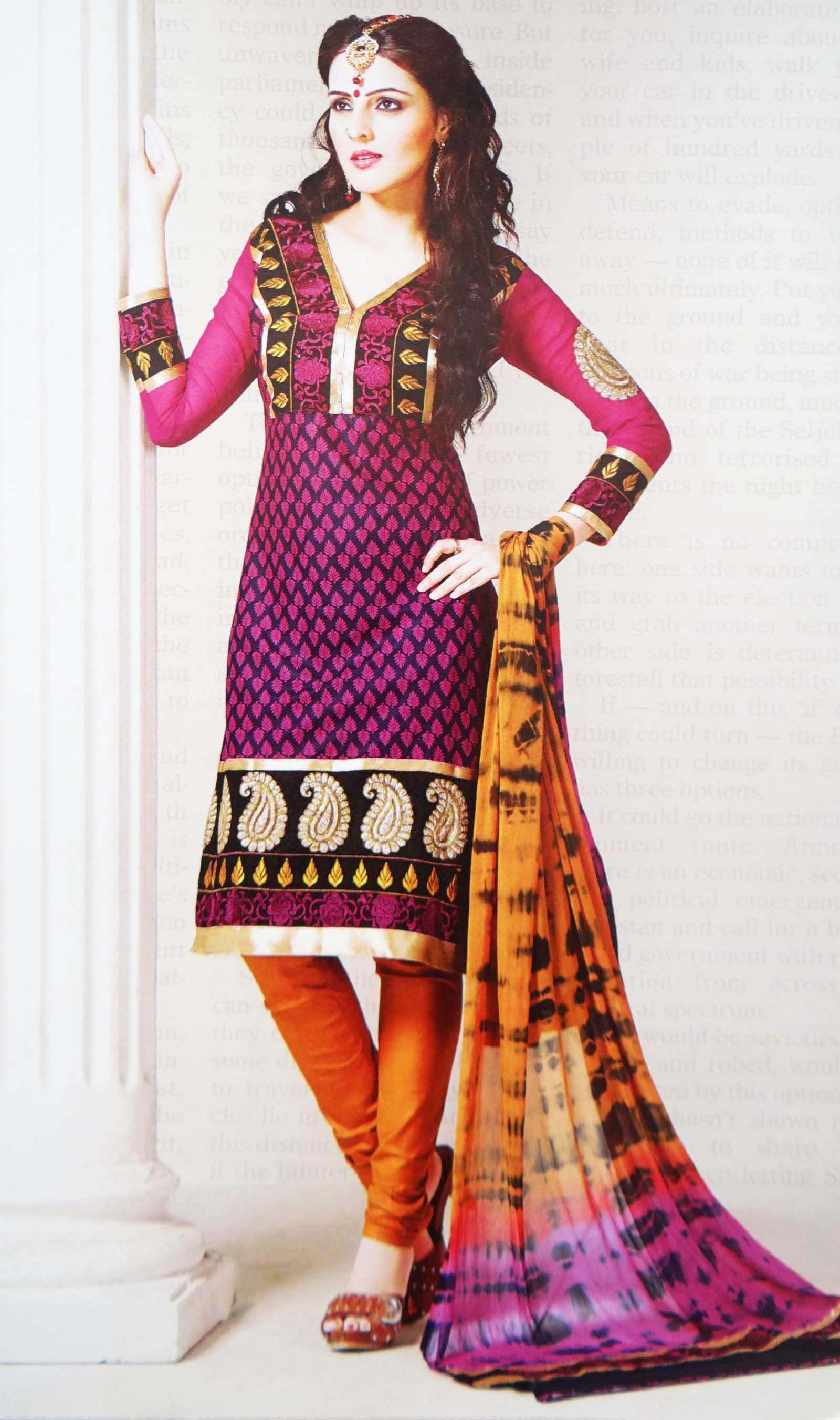 Fashion clothes salwar kameez suits cover me with color