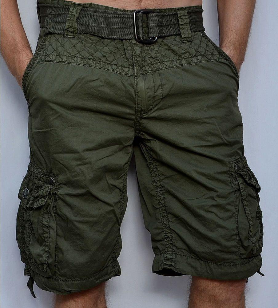 Affliction Black Premium Observacion Pantalones Cortos Estilo Cargo De Hombre Verde Militar Ropa Calzado Cargo Shorts Cargo Shorts Men Mens Clothing Styles [ 1000 x 904 Pixel ]