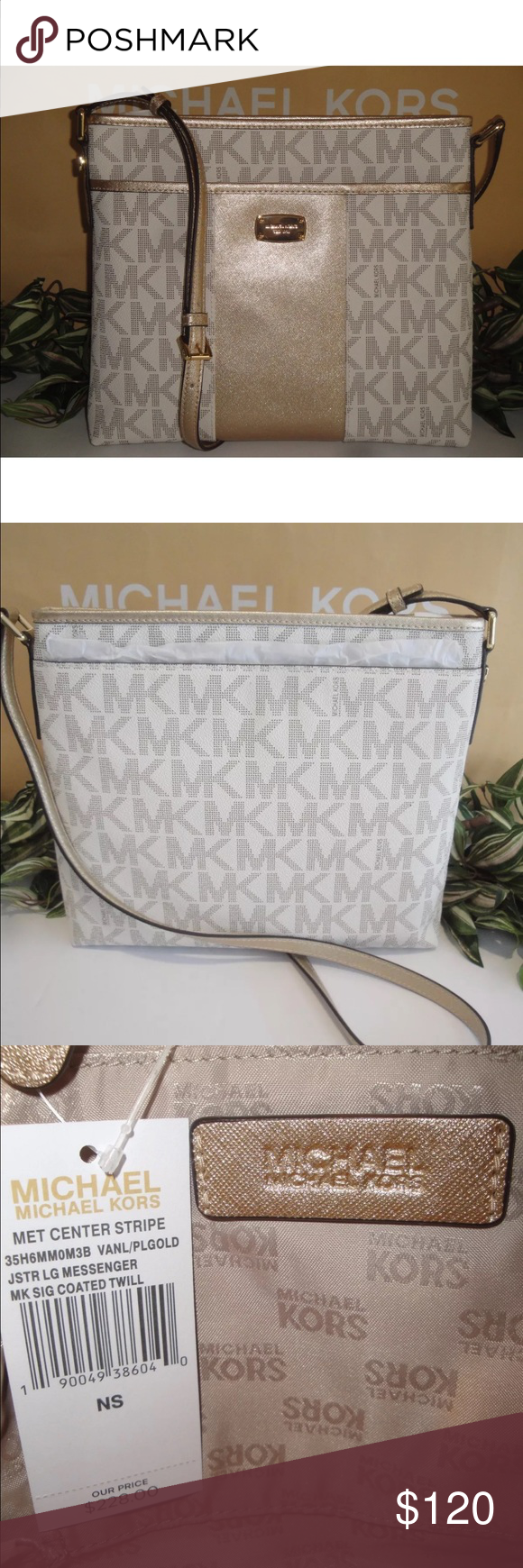 b4a0cd973f660f New Michael kors vanilla center stripe crossbody No offers. No trades Vanilla  MK Logo with