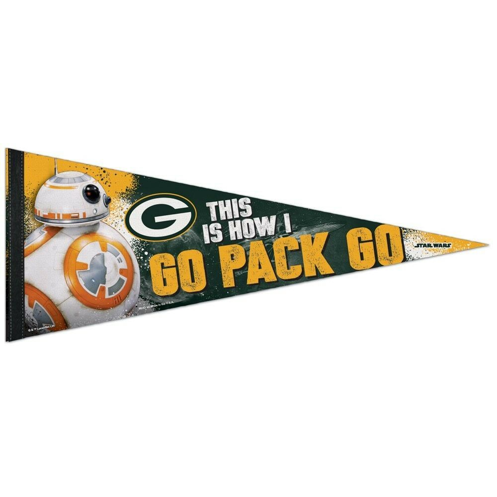 Ebay Sponsored Green Bay Packers Star Wars Bb 8 This Is How I Go Pack Go Pennant 12 X30 New Green Bay Packers Go Pack Go Green Bay
