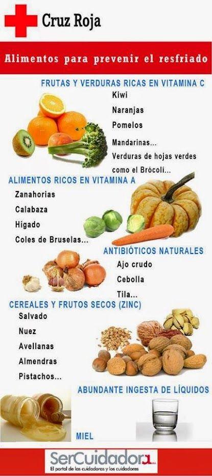 comida para aliviar el resfriado
