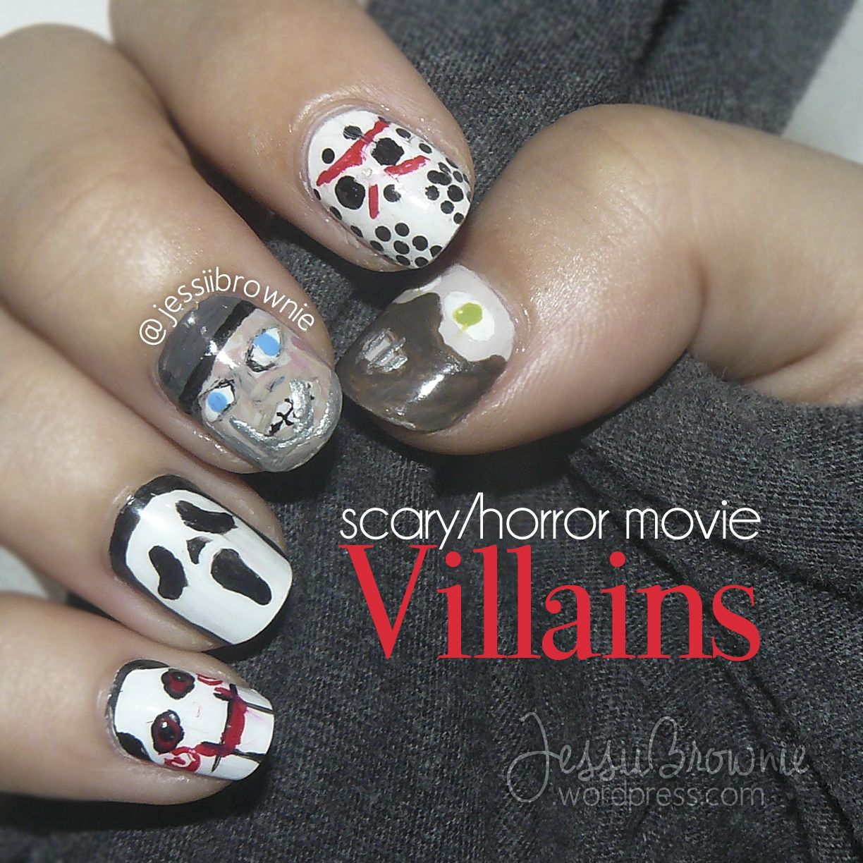 Scary Movies Villains And Quotes Cute Nail Art Designs Horror Nails Halloween Nails
