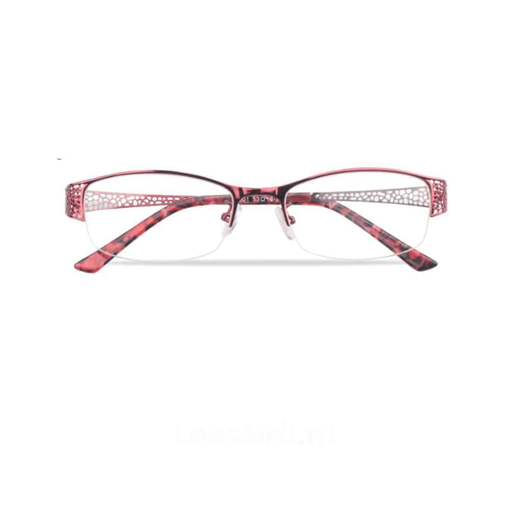 d2cddcad36e361 Dames Leesbril met stijlvol design verwerkt in de pootjes. Deze mooie  elegante dames