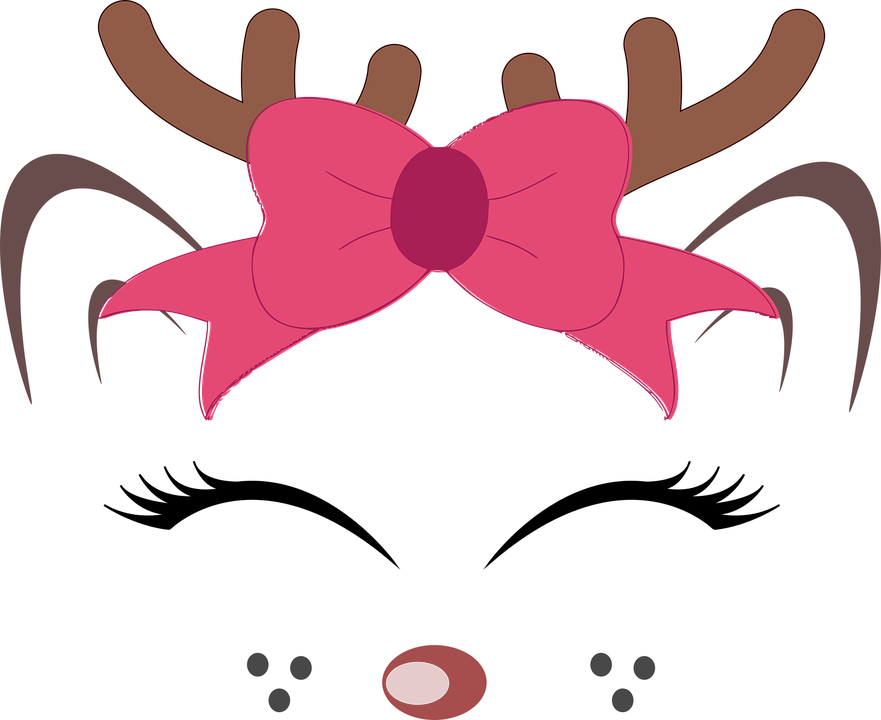 Free Image on Pixabay Reindeer, Face, Christmas, Antlers